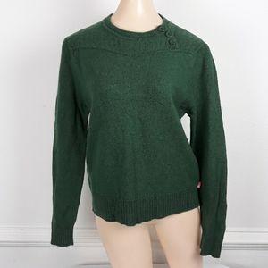 NORTHFACE Long Sleeve Green Wool Blend Sweater